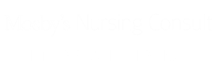 Mosby's Nursing Consult - Important Notice